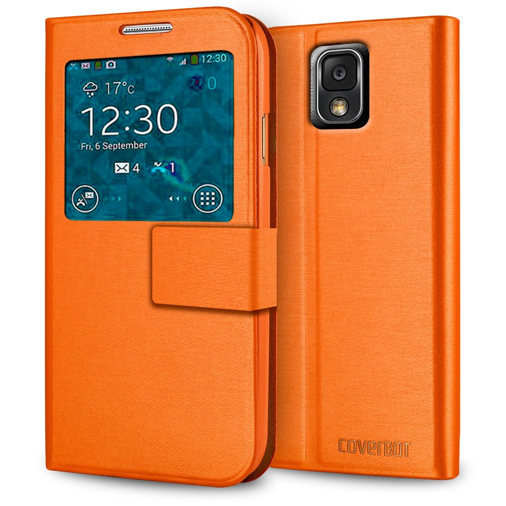 CoverBot Samsung Galaxy Note 3 S-View Flip Cover - Orange
