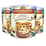 All Natural Chocolate Chip Pancake and Waffle Mix by Birch Benders, Made with Premium Dark Chocolate, 100% Natural and Non-GMO Verified Ingredients, 72 Ounce (24oz 3-pack) (Color: Chocolate Chip, Tamaño: 3 Pack)