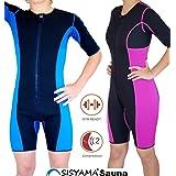 Sisyama Neoprene Sauna Sweat Workout Weight Loss Hot Suit Women Pink (Large) (Color: Women Pink, Tamaño: Large)