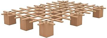 Tojo Bett | Tojo system Funktionsbett |90 x 200 cm | Ideal als Gästebett / Studentenbett / Jugendbett | Das flexible Raumwunder | Unbehandeltes Holzbett ohne Schrauben / Beschläge