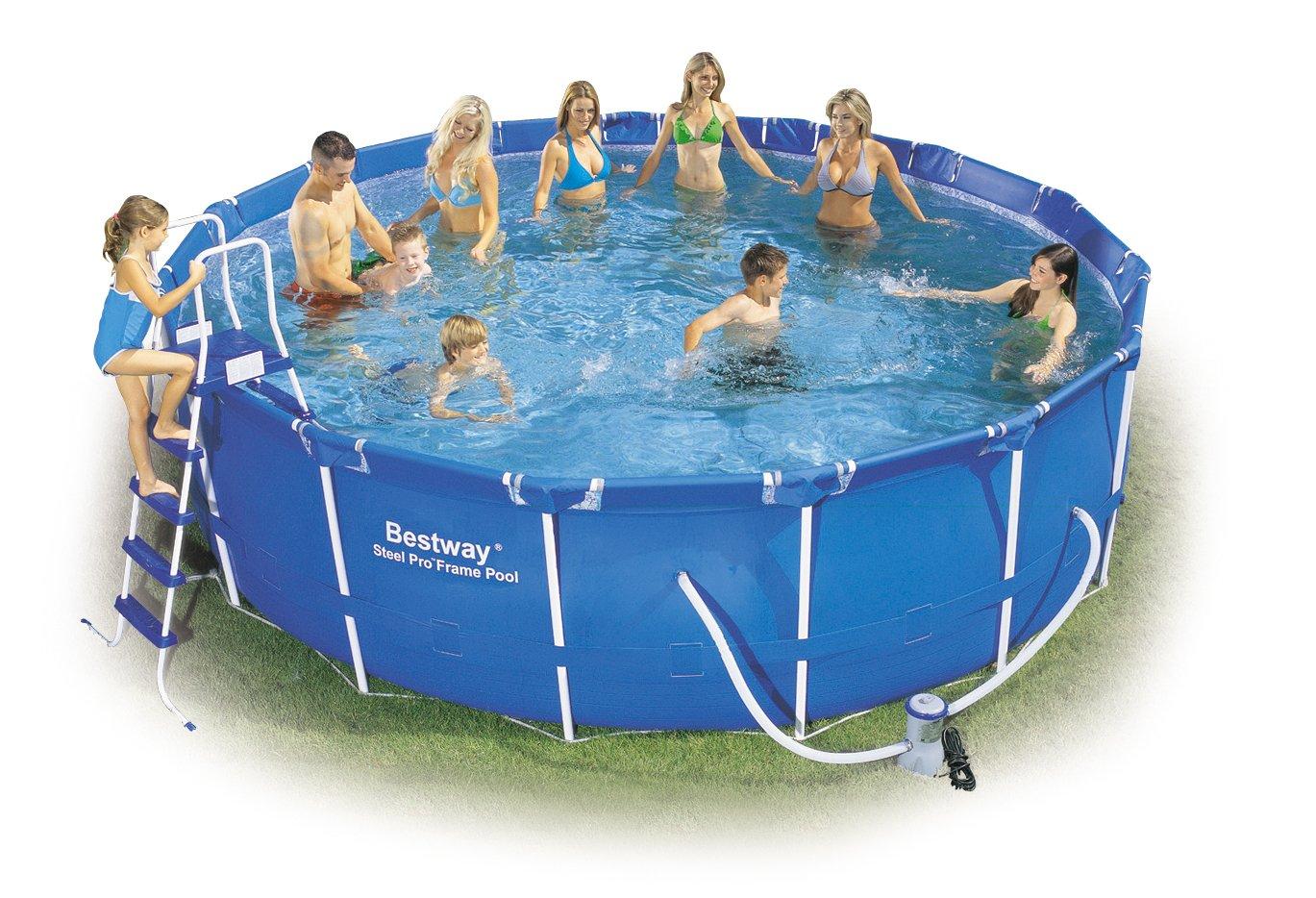 """Bestway 56100GS Frame Pool Stahlrahmenbecken Set, 457 x 122 cm """"Splash Jr."""" mit Filterpumpe GS günstig online kaufen"""