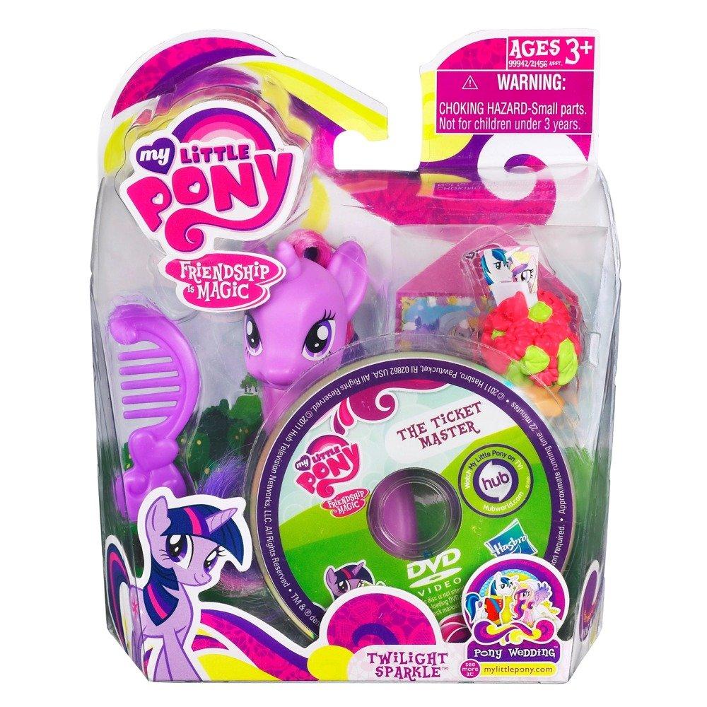 My Little Pony – 99942 – FRiENDSHiP iS MAGiC – Twilight Sparkle – ca. 8 cm – mit Kamm, Blumenstrauß und DVD (REGION 0 / ENGLISCH!!!) online bestellen