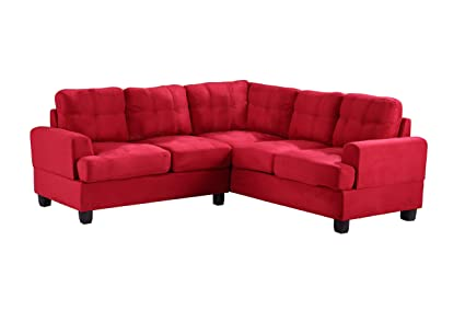 Glory Furniture G516B-SC Sectional Sofa, Red, 2 boxes