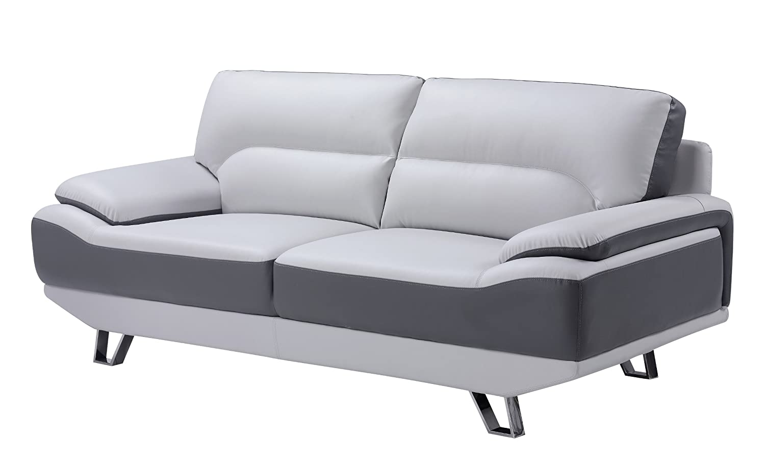 Global Furniture Natalie Sofa - Light Grey and Dark Grey