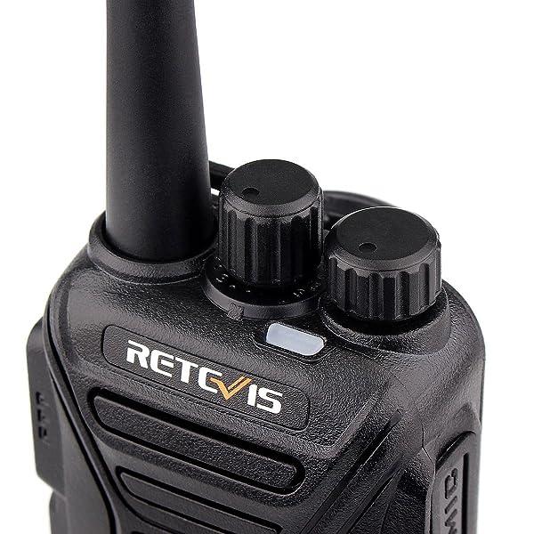 RETEVIS RT27 WALKIE TALKIES RECARGABLE RADIO FRS DE LARGO ALCANCE 22CH SCRAMBLER VOX RADIO DE 2 VÍAS (NEGRO, PAQUETE DE 5)