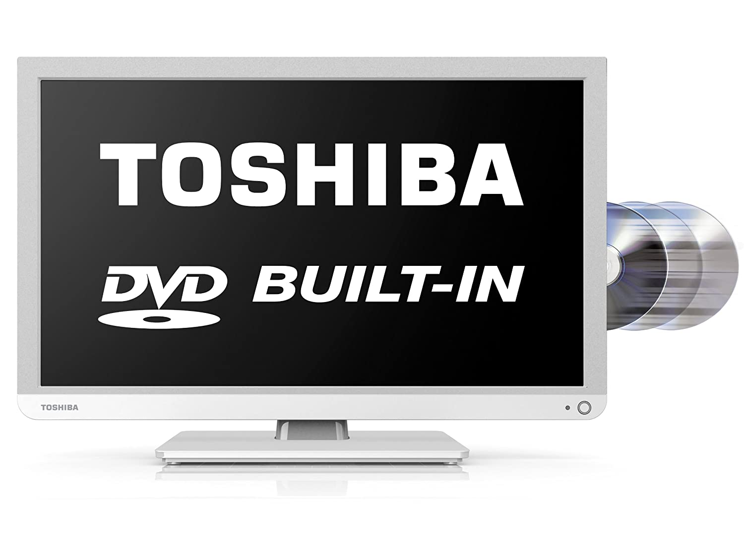 Toshiba 22D1334B 22-inch Widescreen 1080p Full HD LED TV with Built-In DVD Player (New for 2013)