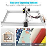DIY CNC Laser Engraver Kits 4050 GRBL Control Wood Carving Engraving Machine (Working Area 40x50cm, 2 Axis (5500MW)