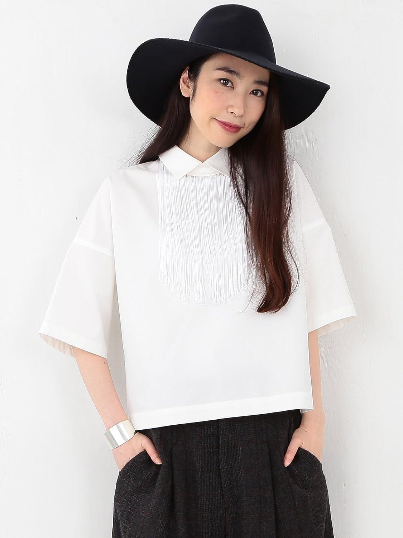 Amazon.co.jp: (レイビームス) Ray BEAMS RBS(アールビーエス) / フリンジチョーカー シャツ 63010140747 ホワイト ONE SIZE: 服&ファッション小物