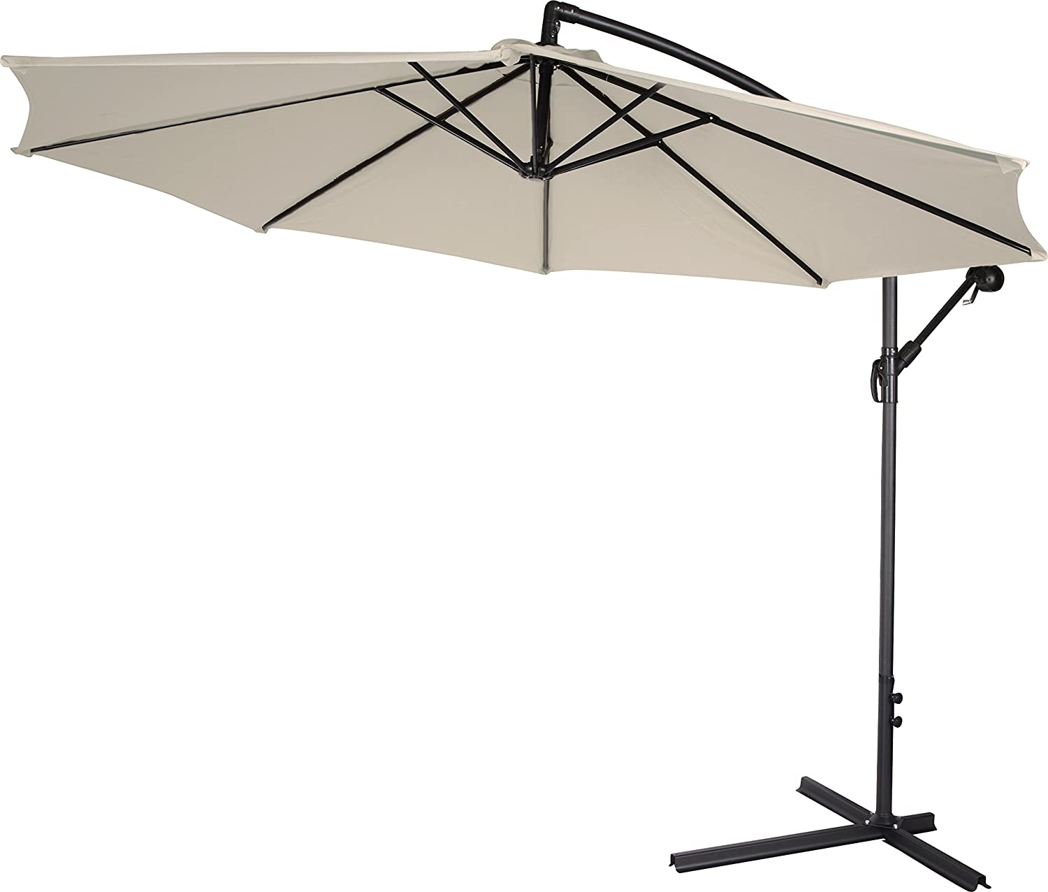 best cantilever umbrella under   outsidemodern - trademark innovations delux ' offset umbrella