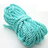U Pick 10yds 5mm Decorative Twisted Satin Polyester Twine Cord Rope String Thread Shiny Cord Choker Thread (13:Mint) (Color: 13:Mint, Tamaño: 5mm)