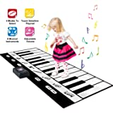 SGILE Big 71X29 Inch Piano Dance Mat Playmat Toy, 24-Key Play Mat with 8 Musical Keys, 10 Music Tone, Record, Playback, Adjustable Vol Instruments for Boys Girls Kids Present[Surprise Gift] (Color: Large Dance Mat, Tamaño: 71*29