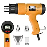 Mowis 1800W Heat Gun, Variable Temperature Heavy Duty Hot Air Gun, with LCD Display (Color: Yellow)