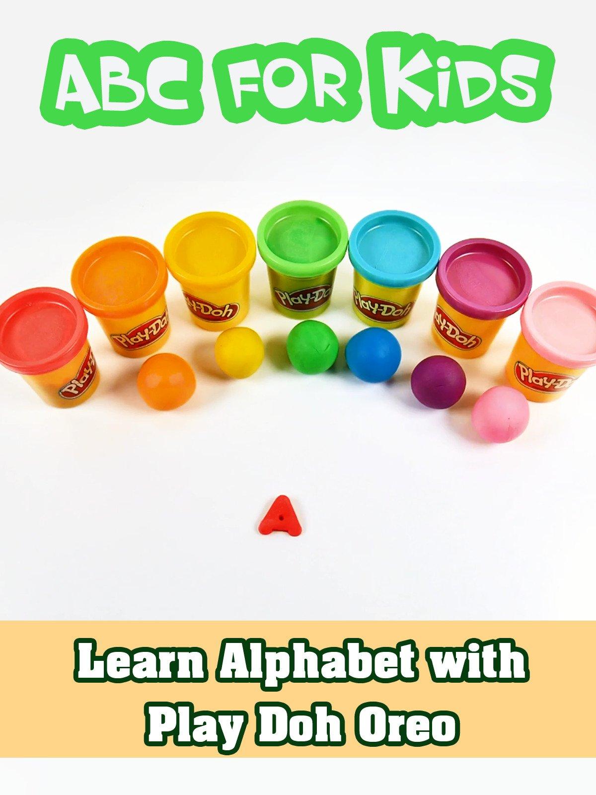 Learn Alphabet with Play Doh Oreo