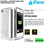 99 Digital iFans [Apple MFi Certified] Juice Pack for iPhone 5/5s Rechargeable Battery Case Back Up Power Bank Charger with Built in Pop out Kickstand [WHITE]