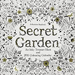 Secret Garden 2016 Wall Calendar: An Inky Treasure Hunt and 2016 Coloring Calendar