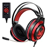 VANKYO CM7000 Pro Gaming Headset PS4 headset with 7.1 Surround Sound Stereo Xbox One Headset, Gaming Headphones with Noise Canceling Mic & Memory Foam Ear Pads for PC, PS4, Xbox One, Nintendo Switch
