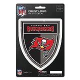 NFL Tampa Bay Buccaneers Shield Decal (Color: Black, Tamaño: 4)