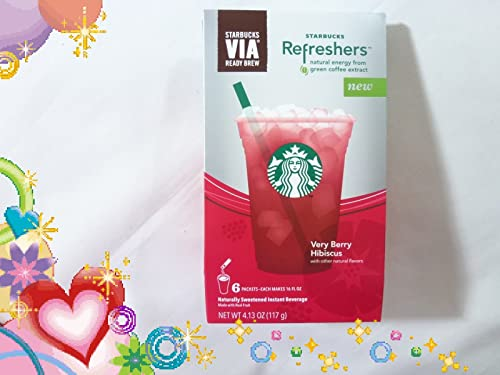 Starbucks Refreshers Very Berry Hibiscus 6-16 Fl Oz Packets (762111940315)