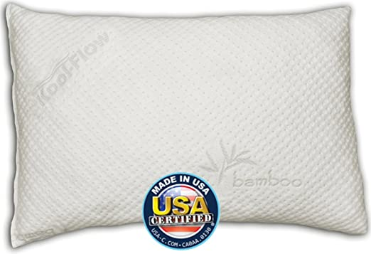 Snuggle-Pedic Ultra-Luxury Kool-Flow Bamboo Shredded Memory Foam Pillow