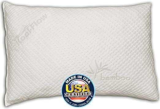 Snuggle-Pedic Ultra-Luxury Kool-Flow Bamboo Shredded Memory Foam Pillow