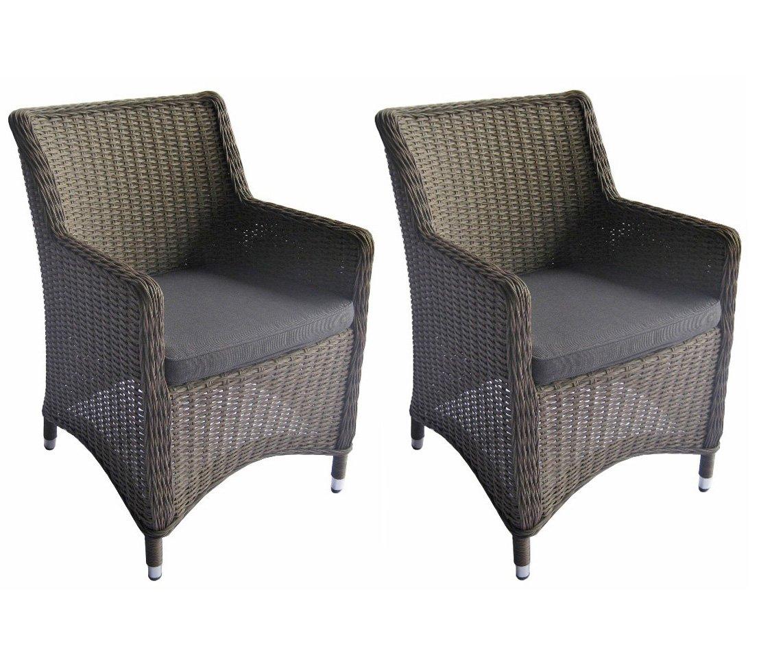 Dehner Living Flechtsessel Jersey, 2er Set, inkl. Sitzkissen, je ca. 85 x 63 x57 cm günstig kaufen