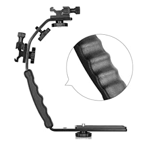 ChromLives Camera L Bracket Mount Video Grip L-Bracket with Dual Flash Cold Shoe Mount 1/4 Tripod Screw, Heavy Duty Padded Hand Grip for DSLR Camera Camcorder (Updated) (Color: L Bracket, Tamaño: L bracket)