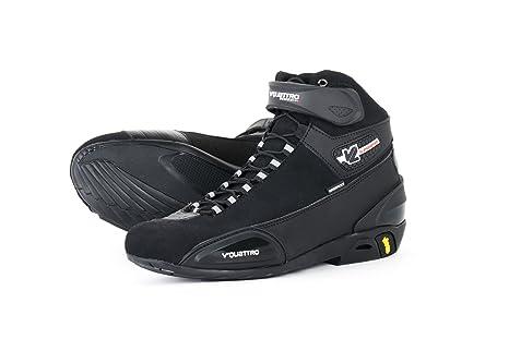 V Quattro Design V4S-SSPWP-BK42 Vquattro Chaussure de Moto Supersport Waterproof, Noir, Taille 42