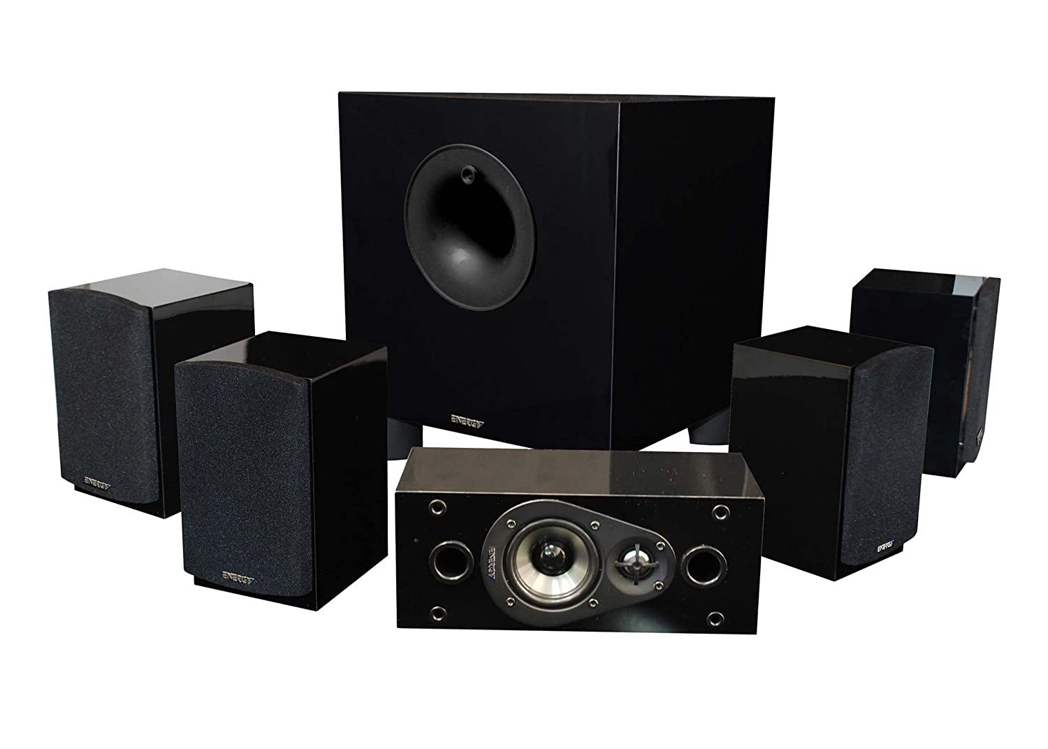 Energy 5.1 Take Classic Home Theater System (Set of Six, Black) $279.99