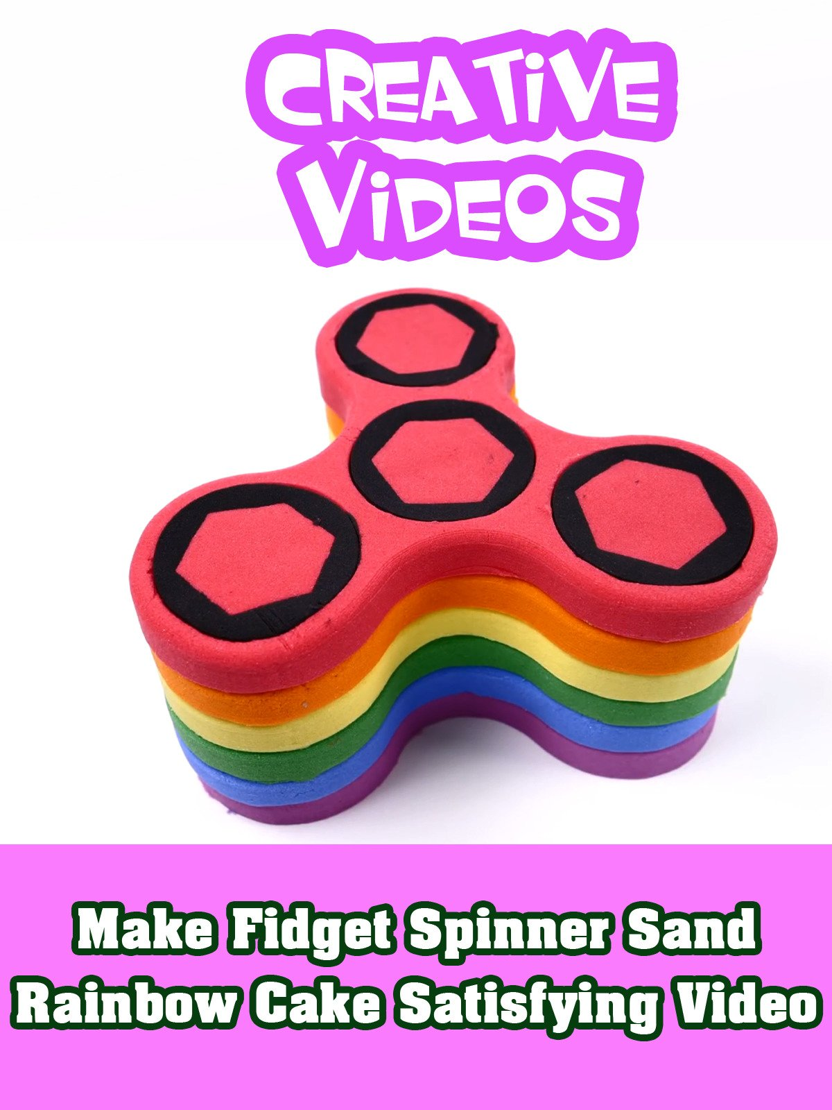 Make Fidget Spinner Sand Rainbow Cake Satisfying Video