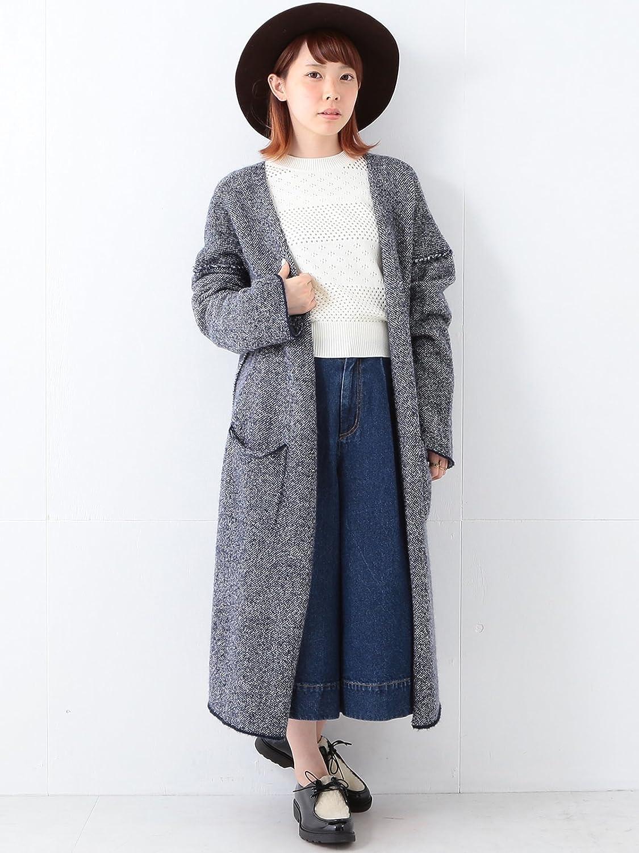 Amazon.co.jp: (レイビームス) Ray BEAMS / MIXヤーン ロングニット コート 63150249556 ネイビー ONE SIZE: 服&ファッション小物