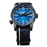 Traser P68 107719 Pathfinder Automatic Blue Swiss Watch, Blue/Yellow Nato Strap