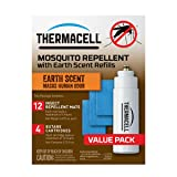 Thermacell E-4 Mosquito Repeller Refill with Earth Scent,48 HourPack (12 Repellent Mats and 4 Fuel Cartridges) (Color: 48 Hour Pack, Tamaño: 48 Hour Pack)