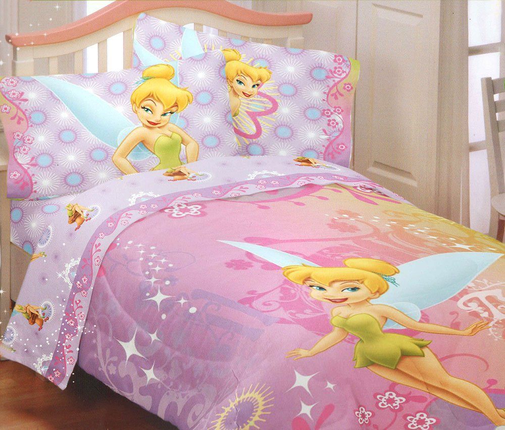 Tinker bell bedding totally kids totally bedrooms for Tinkerbell bedroom furniture
