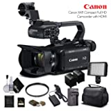 Canon XA11 Compact Full HD Camcorder 2218C002 With 64GB Memory Card, Extra Battery and Charger, UV Filter, LED Light, Case and More. - Starter Bundle (Tamaño: Starter Bundle)