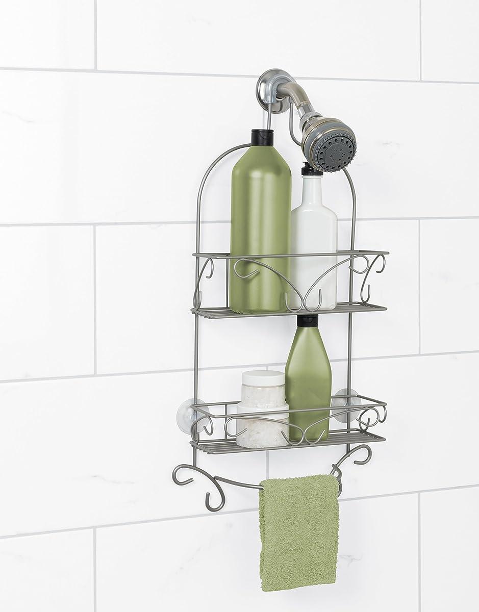 Zenna Home 7566NN, Over-the-Showerhead Shower Caddy, Satin Nickel