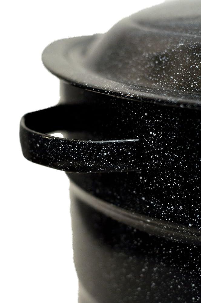 Granite ware 0707 1 steel porcelain water bath canner with rack 21 5
