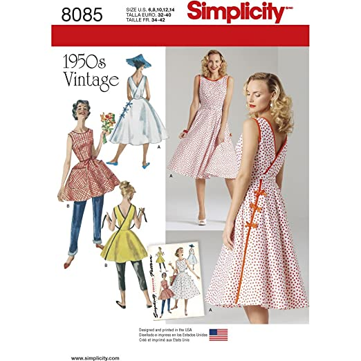 1950s Day Dresses  1950s Wrap Dress in Two Lengths Size: R5 (14-16-18-20-22)))  8085                               $15.28 AT vintagedancer.com