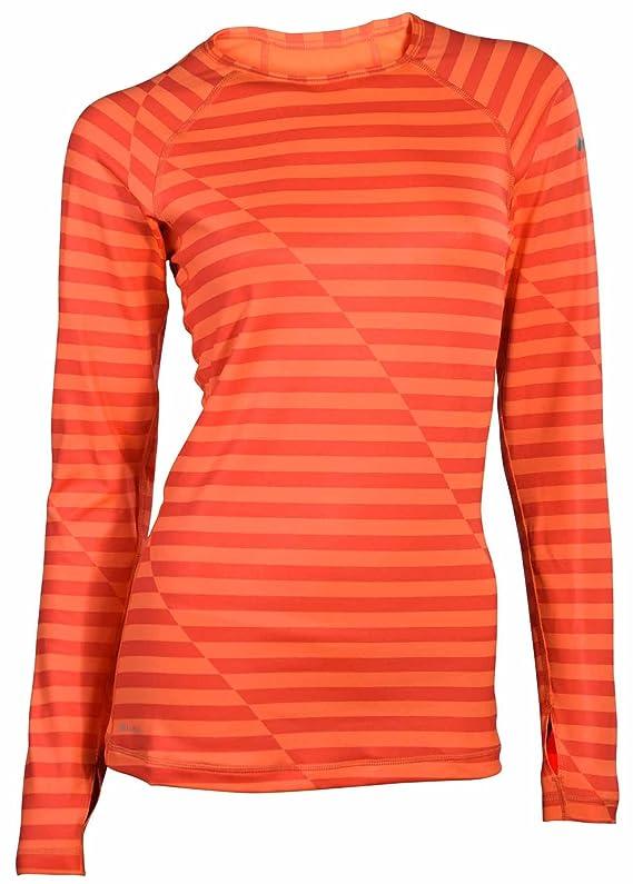Nike Women's Dri-Fit Pro Hyperwarm Training Top-Red Orange