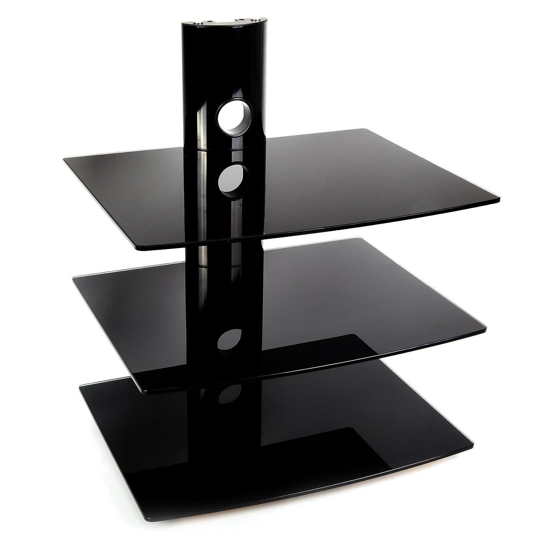 Mvk scaffale porta elettroniche da parete a 3 ripiani in - Porta dvd da parete ...