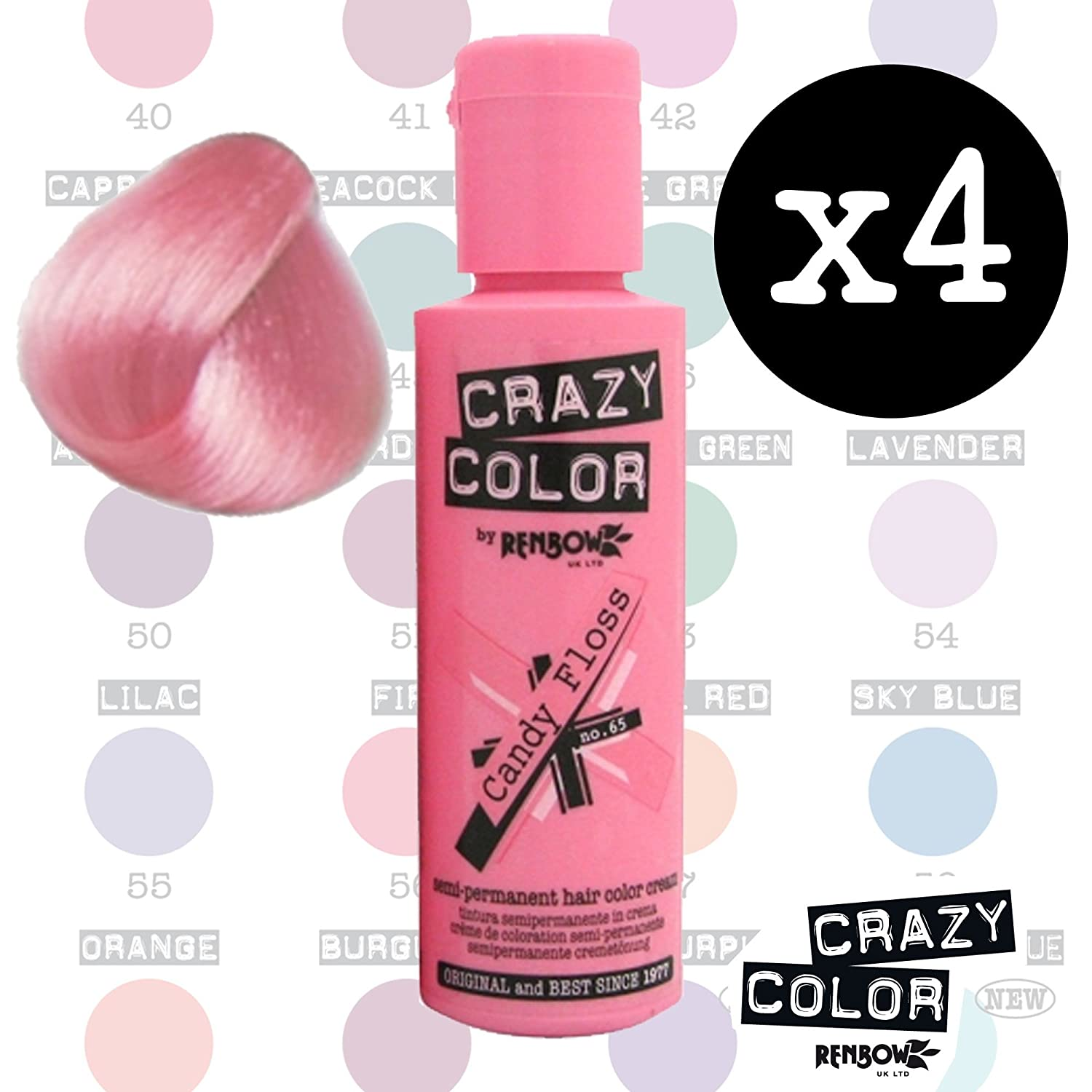 Crazy Colours Lilac Crazy Colour Semi Permanent