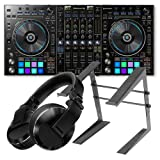 Pioneer DDJ-RZ DJ Controller for rekordbox w/ HDJ-X10 Headphones & Laptop Stand