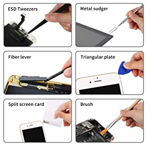 Kaisi Precision Magnetic Screwdriver Set Electronics Repair Tool Kit Professional Spudgers Pry Tools with Premium Leather Portable Bag for Fix Cellphone, iPhone, Computer, Laptop, MacBook and More (Color: 30 Pcs Screwdriver Repair Kit)
