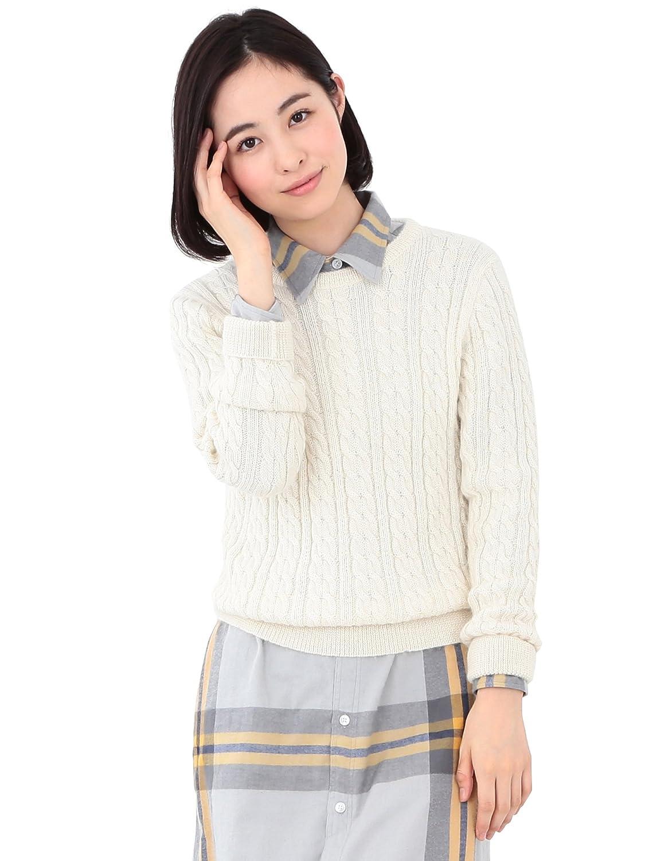 (ビームスボーイ) BEAMS BOY / 5ゲージ アルパカ ケーブルクルー 15FW 13150254714 ナチュラル ONE SIZE : 服&ファッション小物通販 | Amazon.co.jp