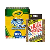 Crayola 58-6565 100 Count Super Tips Washable Markers with 12 Count, Adult Coloring, Stocking Stuffers, Gift (Tamaño: 100 ct with Markers)