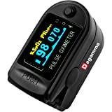 Dagamma DP150 Pulse Oximeter with Carrying Case, Batteries, Neck/Wrist Cord & One-Year Warranty Advanced LCD Screen (Black Onyx) (Color: Black)