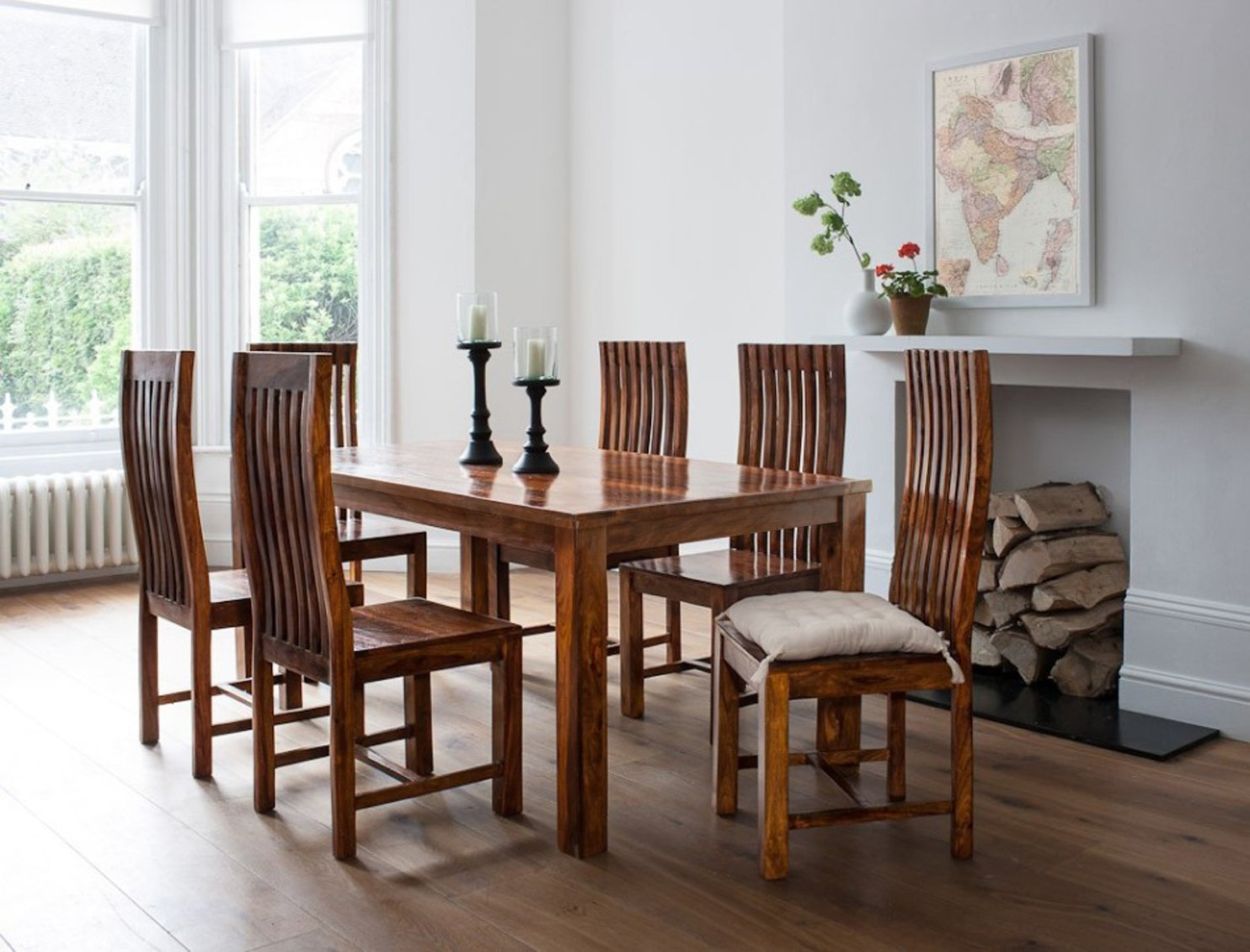 Nilkamal Kitchen Furniture Handcrafted Sheesham Wood Dining Set With 6 Chairs Best