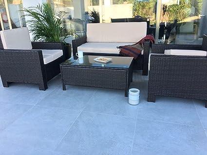 KieferGarden Florida Conjunto muebles de jardín y exterior en Ratán Sintético