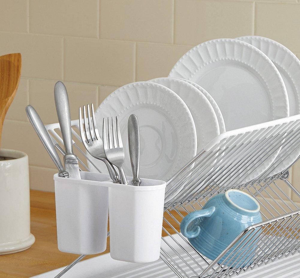 Space Saver Kitchen Folding Dish Drainer White