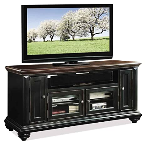 Wide TV Cabinet in Prestige Black Finish