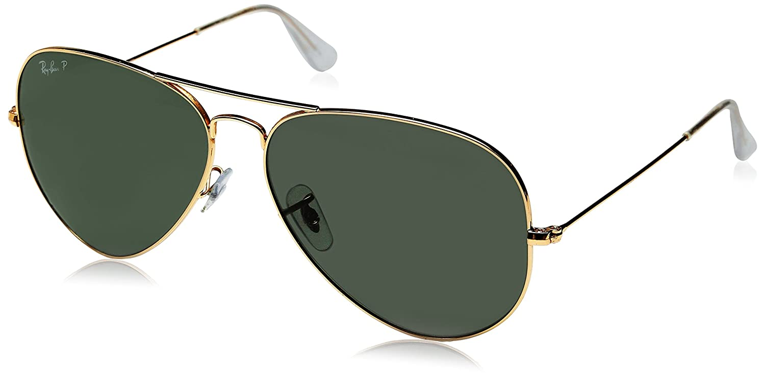 ray ban mens rb3025 large polarized  ray ban gradient aviator sunglasses (black) (0rb3025001/5862): ray ban: amazon.in: clothing & accessories